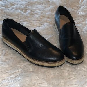 A New Day black espadrille platform loafer